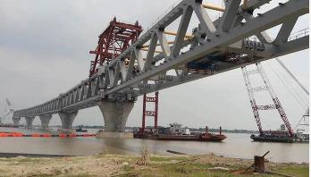 Installation of 13th span on Padma Bridge today