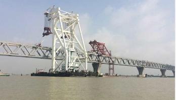 13th span of Padma Bridge installed