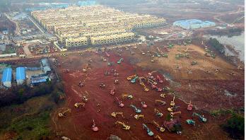 ১৫ দিনে হাসপাতাল নির্মাণ করছে চীন