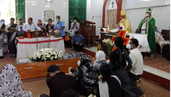 Andrew Kishore buried beside mother