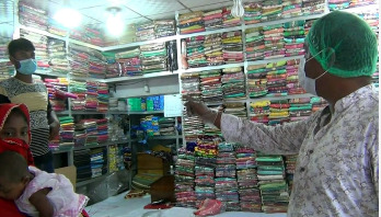 হাকিমপুরে 'নো মাস্ক নো সেল' কর্মসূচি শুরু