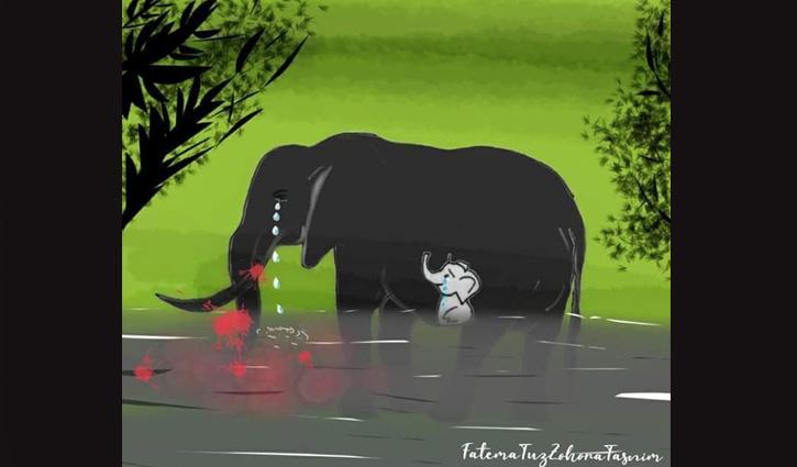 প্রশংসা কুড়াচ্ছে তাসনিমের আঁকা ছবি