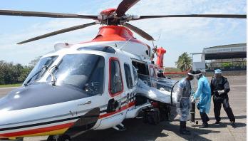 করোনায় আক্রান্তদের বহনে প্রস্তুত বিমান বাহিনীর হেলিকপ্টার