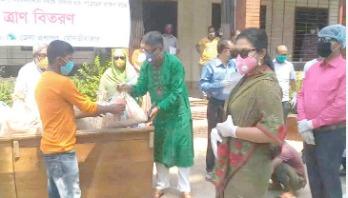 মৌলভীবাজারে ১১০ পরিবারকে খাদ্য সহায়তা
